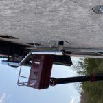 コロケット高所作業車で煙突工事